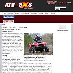 2013 Half watercraft, Half ATV; The Amphibious Quadski Review