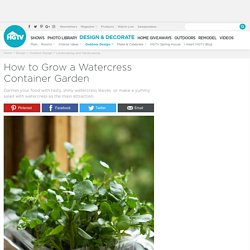 How to Grow a Watercress Container Garden