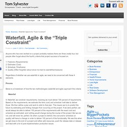 "Waterfall, Agile & the ""Triple Constraint"""