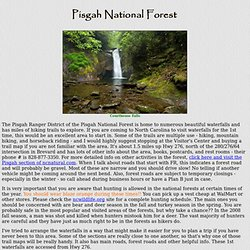 Waterfalls of the Pisgah Ranger District, Pisgah National Forest