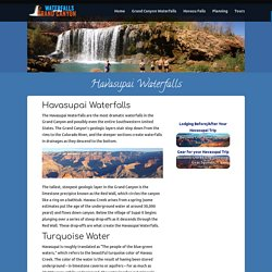 Havasupai Waterfalls Planning Information - Hiking, Camping and more!