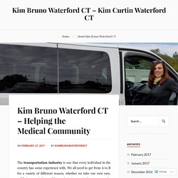 Kim Bruno Waterford CT – Helping the Medical Community