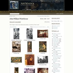 John William Waterhouse :: Biography and Image Gallery at ArtMagick