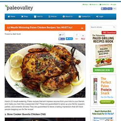 22 Mouth-Watering Paleo Chicken Recipes You MUST try! - Paleovalley