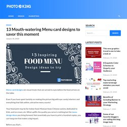 13 Mouth-watering Menu card designs to savor this moment - PhotoADKing Blog