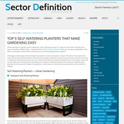Top 5 Self Watering Planters That Make Gardening Easy