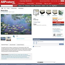 Waterlilies Posters by Claude Monet at AllPosters.com