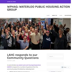 Blog – WPHAG: Waterloo Public Housing Action Group