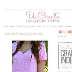 Watermark Tee Tutorial by Sweet Verbana