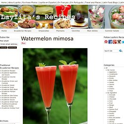 Watermelon mimosa recipe