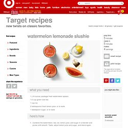 Watermelon Lemonade Slushie Recipe : Target Recipes