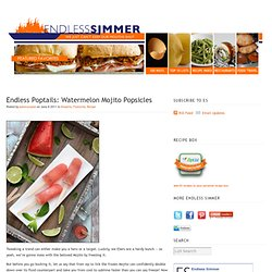 Watermelon Mojito Popsicles Recipe