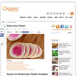 Watermelon Radish - Organic Authority