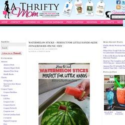 Watermelon Sticks ~ Perfect for little hands #Kids #FingerFoods #Picnic #DIY