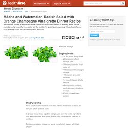 Mâche and Watermelon Radish Salad with Orange Champagne Vinaigrette Dinner Recipe