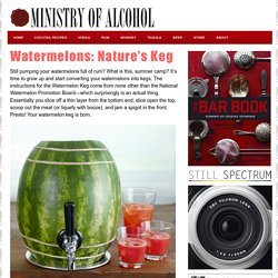 Watermelons: Nature's Keg | Ministry of Alcohol