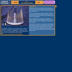 Waterphone tonal-friction musical instrument, Richard Waters, water harp, ocean harp unique strange experimental