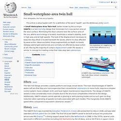 Small-waterplane-area twin hull