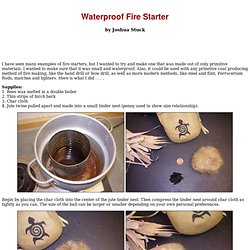Waterproof Fire Starter