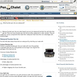 Waterproof Fountain Pen Ink - Water Resistant Inks
