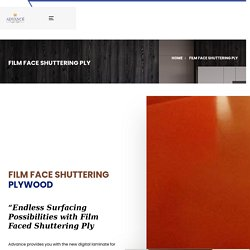 Waterproof Shuttering Plywood, Manufacturers - Film Faced Shuttering Ply