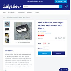 IP65 Waterproof Solar Lights Outdoor 55 LEDs Wall Solar Lights