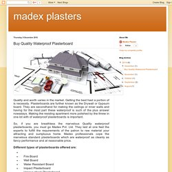 madex plasters: Buy Quality Waterproof Plasterboard