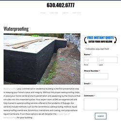 Waterproofing, Basement Repair, Dupage County, IL