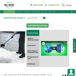 Waterproofing step in the construction process