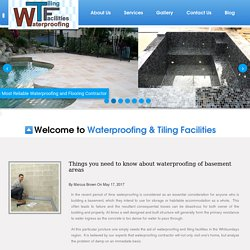 Things you need to know about waterproofing of basement areas