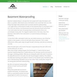 Basement Waterproofing Greenville SC