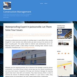 Waterproofing Expert In Jacksonville: Let Them Solve Your Issues