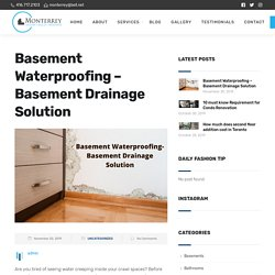 Basement Waterproofing – Basement Drainage Solution