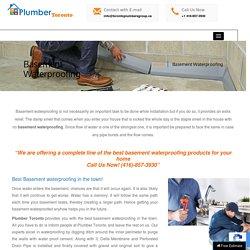 Basement Waterproofing Services in Toronto