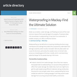 Waterproofing in Mackay-Find the Ultimate Solution