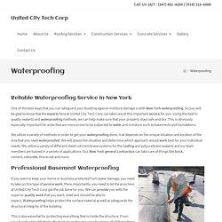 Waterproofing - United City Tech Corp