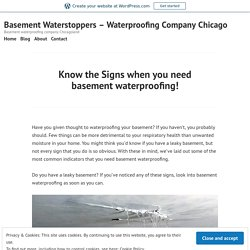 Know the Signs when you need basement waterproofing! – Basement Waterstoppers – Waterproofing Company Chicago