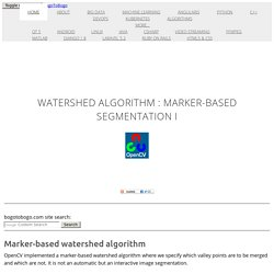 OpenCV 3 Watershed Algorithm : Marker-based Segmentation I