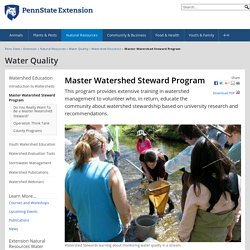 Master Watershed Steward Program