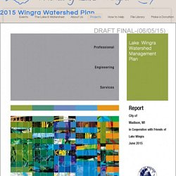 2015 Wingra Watershed Plan - Friends of Lake WingraFriends of Lake Wingra