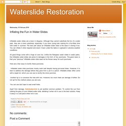 Waterslide Restoration: Inflating the Fun in Water Slides