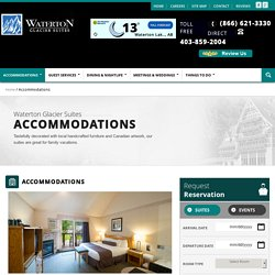 Get a Perfect Accomodation in Waterton: Waterton Glacier Suites