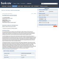 WATERTOWN SAVINGS BANK Review - Credit Union Reviews
