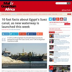 10 fast facts about Egypt's Suez canal, as new waterway is launched this week
