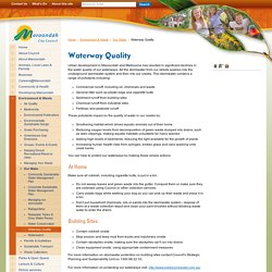 Waterway Quality - Maroondah City Council