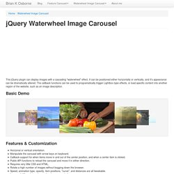 jQuery Waterwheel Image Carousel