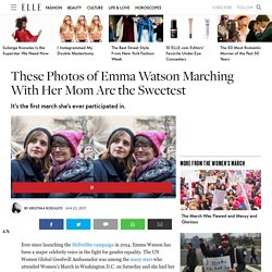 Emma Watson Attends Women's March with Her Mom - Emma Watson Women's March Photos