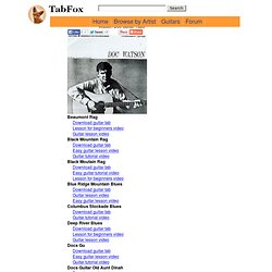 Free Watson Doc Guitar Tabs and Chords - TabFox.com