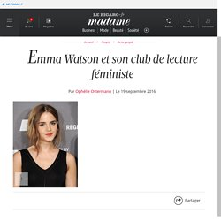 Emma Watson et son club de lecture féministe - Madame Figaro