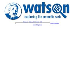 Watson Semantic Web Search